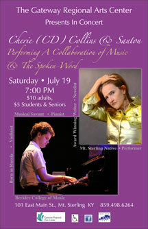 CD Collins and Santon at Gateway Regional Arts Center - poster