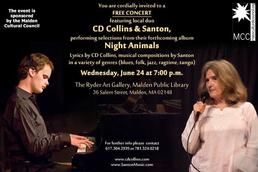 CD Collins and Santon at Malden Public Library